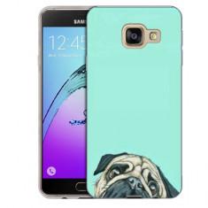 Husa Samsung Galaxy A7 2016 A710 Silicon Gel Tpu Model Curious Pug - Husa Telefon