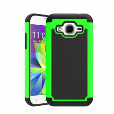Husa ARMOR Samsung Galaxy J5 verde - folie protectie display - Husa Telefon, Gel TPU, Fara snur, Carcasa