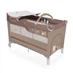 Patut pliabil cu 2 nivele Baby Design Dream Beige - Patut pliant bebelusi