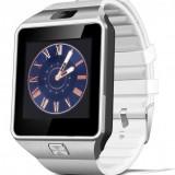 Smartwatch Star Rush DZ09 Alb, Bluetooth, SIM, Card, Camera, Difuzor, Microfon, Pedometru, Cronometru