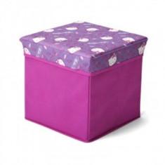 Taburet si cutie depozitare jucarii Hello Kitty - Sistem depozitare jucarii