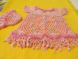 Rochita crosetata pentru copii, culoare frez