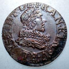 G.333 FRANTA LOUIS XIII DENIER DOUBLE TOURNOIS 16(3)5 - Moneda Medievala, Europa
