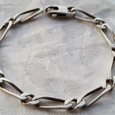 Bratara argint cu zale Barbateasca VECHE impecabila Masiva de Efect vintage