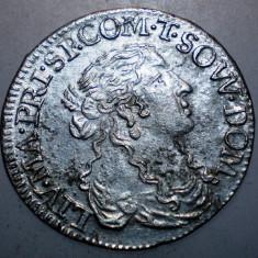 G.329 ITALIA TASSAROLO LIVIA CENTURIONI 1 LUIGINO 1666 XF ARGINT 2, 25g/21mm - Moneda Medievala, Europa