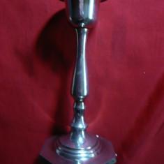 Sfesnic metal argintat, h= 15, 2 cm
