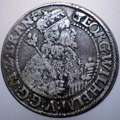 G.012 GERMANIA BRANDENBURG GEORG WILHELM ORT 1/4 THALER TALER 1622 ARGINT 6, 3g - Moneda Medievala, Europa