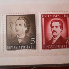 1939/2018 LP 130 50 DE ANI DE LA MOARTEA LUI MIHAI EMINESCU - Timbre Romania, Nestampilat