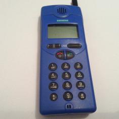 Telefon de colectie anul 1997 Siemens C10D vintage rar vechi retro antic - Telefon mobil Siemens, Albastru, Nu se aplica, Fara procesor