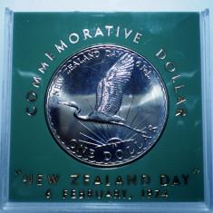 5.029 NEW ZEALAND NOUA ZEELANDA 1 ONE DOLLAR 1974 XF/AUNC 50000ex., Australia si Oceania, Cupru-Nichel