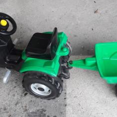 Tractoras cu pedale si remorca