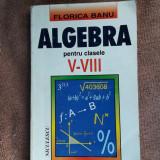 Algebra Pentru Clasele V- VIII Florica Banu - Culegere Matematica