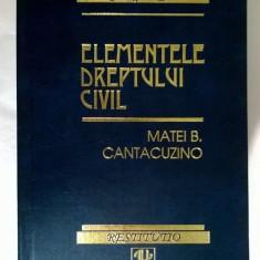 Matei B. Cantacuzino - Elementele dreptului civil