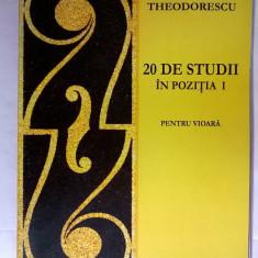 Alexandru Theodorescu - 20 de studii in pozitia I {Pentru vioara}