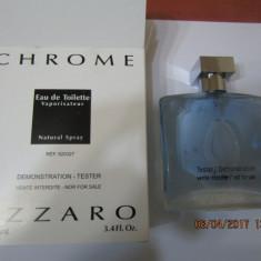 PARFUM TESTER AZZARO CHROME -- 100 ML -SUPER PRET, SUPER CALITATE! - Parfum barbati Azzaro, Apa de toaleta