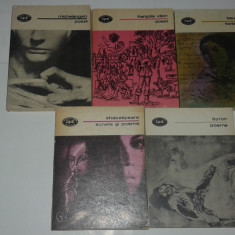 5 CARTI POEZIE BYRON, SHAKESPEARE, BAUDELAIRE, FRANCOIS VILLON, MICHELANGELO - Carte poezie