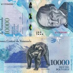 VENEZUELA 10.000 bolivares 18 august 2016 UNC!!!