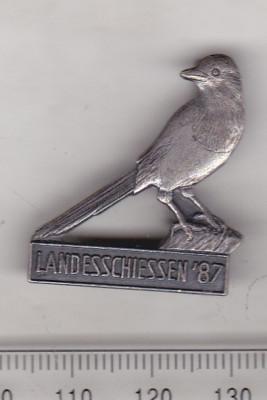 bnk ins Germania - Insigna vanatoare 1987 - pasare foto