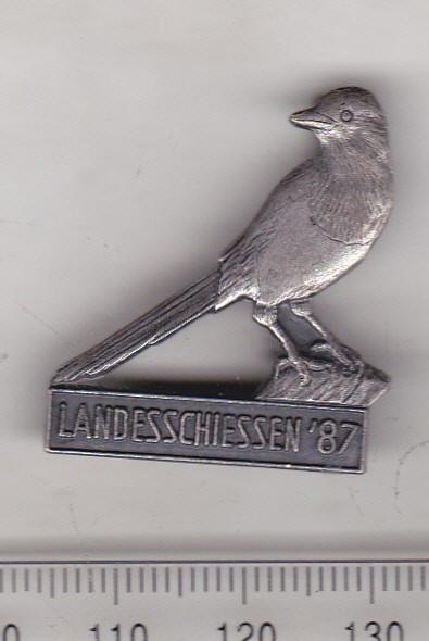 bnk ins Germania - Insigna vanatoare 1987 - pasare