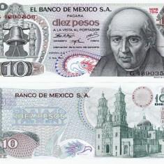 MEXIC 10 pesos 1971 UNC!!! - bancnota america