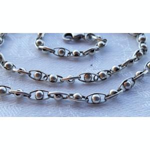 Colier argint MARGELE bilute din argint SPLENDID superb Delicat finut de Efect