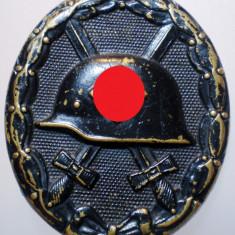 I.278 GERMANIA WWII AL III-LEA REICH INSIGNA NAZISTA BLACK WOUND BADGE, Europa