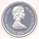 Moneda Gibraltar 25 New Pence 1977 - KM#10a PROOF ( argint 0,925 - 28,28 grame ), Europa