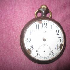 Ceas vechi omega de buzunar pt piese c7 - Ceas de buzunar vechi