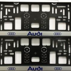 Suport Numar Personalizate AUDI SET 2 BUC. AL-TCT-263 - Suport numar Auto