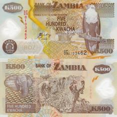 ZAMBIA 500 kwacha 2009 polymer UNC!!!