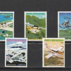 Aviatie civila, Papua. - Timbre straine, Nestampilat