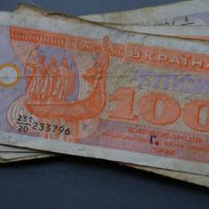 100 cupoane Karbovanets 1992 Ucraina VF - bancnota europa