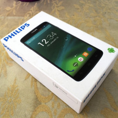 Smartphone Philips I928 - Telefon mobil Dual SIM Philips, Negru, 8GB, Neblocat, Octa core, 2 GB