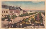 TURNU SEVERIN  VEDEREA PARCULUI SI  STRADA  VESTEI  CIRCULATA  1915, Printata