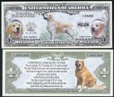 NOU : SUA = FANTASY NOTE = GOLDEN  RETRIEVER - 2016 - UNC / SERIA DOG LOVER