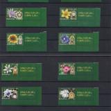 2013- Ceasul florilor I+II- AMBELE SERII+VIGNETA COALA POSTA, Flora, Nestampilat