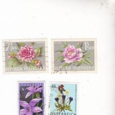 Timbre uzate Osterreich flora