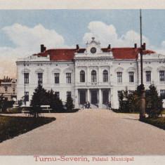 OLTENIA, TURNU SEVERIN PALATUL MUNICIPAL - Carte Postala Oltenia 1904-1918, Necirculata, Printata