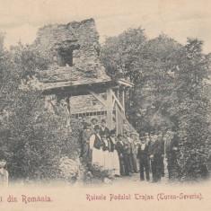 SALUTARI DIN ROMANIA TURNU SEVERIN RUINELE PODULUI TRAIAN CLASICA 1903 - Carte Postala Oltenia pana la 1904, Necirculata, Printata