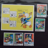 1984 - GRENADA GRENADINES - DISNEY- CHRISMAS 1984 - MICHEL 641-645 +BLOCK 89, Animatii, Nestampilat