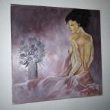 Tablou nud, ulei pe panza, superb! - Pictor roman, Realism
