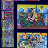 1990 - DOMINICA - WALT DISNEY-CHRISTMAS-CIRCUS- MICHEL 1354-1361+BLOCKS 174-175, Animatii, Nestampilat
