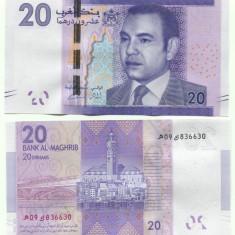 MAROC 20 dirhams 2012 - UNC - bancnota asia