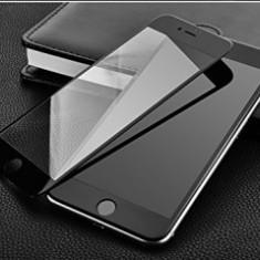 Folie protectie sticla securizata Full Cover ecran Apple iPhone 6G / 6S BLACK - Folie de protectie