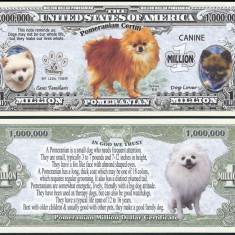 NOU : SUA = FANTASY NOTE =  POMERANIAN  - 2016 - UNC / SERIA DOG LOVER