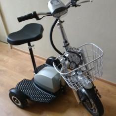 Tricicleta electrica cu cadru de otel
