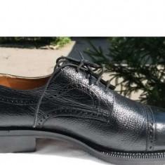 Pantofi barbat Aldoi piele naturala ITALIA nr.43 NOI, Culoare: Negru, Eleganti