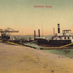 TURNU SEVERIN SANTIERUL NAVAL EDITURA AD. MAIER & D. STERN, FOTOGRAF KIKOMBAN - Carte Postala Oltenia 1904-1918, Necirculata, Printata