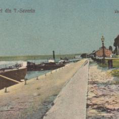 SALUTARI DIN TURNU SEVERIN VEDERE DIN PORT CIRCULATA 1923 - Carte Postala Oltenia dupa 1918, Printata