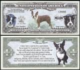 NOU : SUA = FANTASY NOTE =  BOSTON  TERRIER  - 2016 - UNC / SERIA DOG LOVER